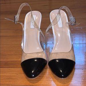Forever 21 Perspex Toe Cap Heels
